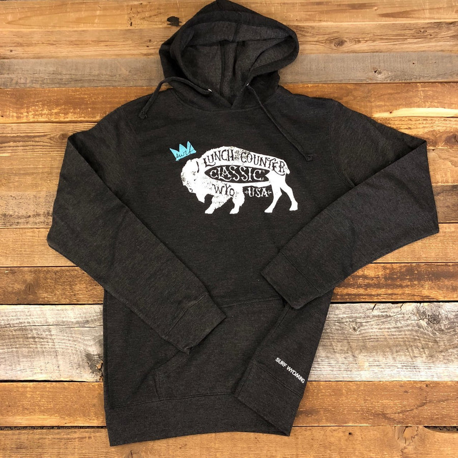 Women's Surf Wyoming® Lunch Counter Pullover Hoodie - Black