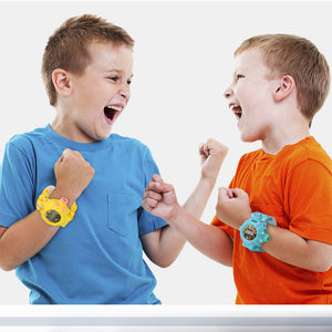 (45% OFF)Electronic Deformation Robot Watch 3 In 1 Projection Toy For Boys Girls Gift