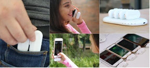 Fingertip magnetic mobile power charging treasure