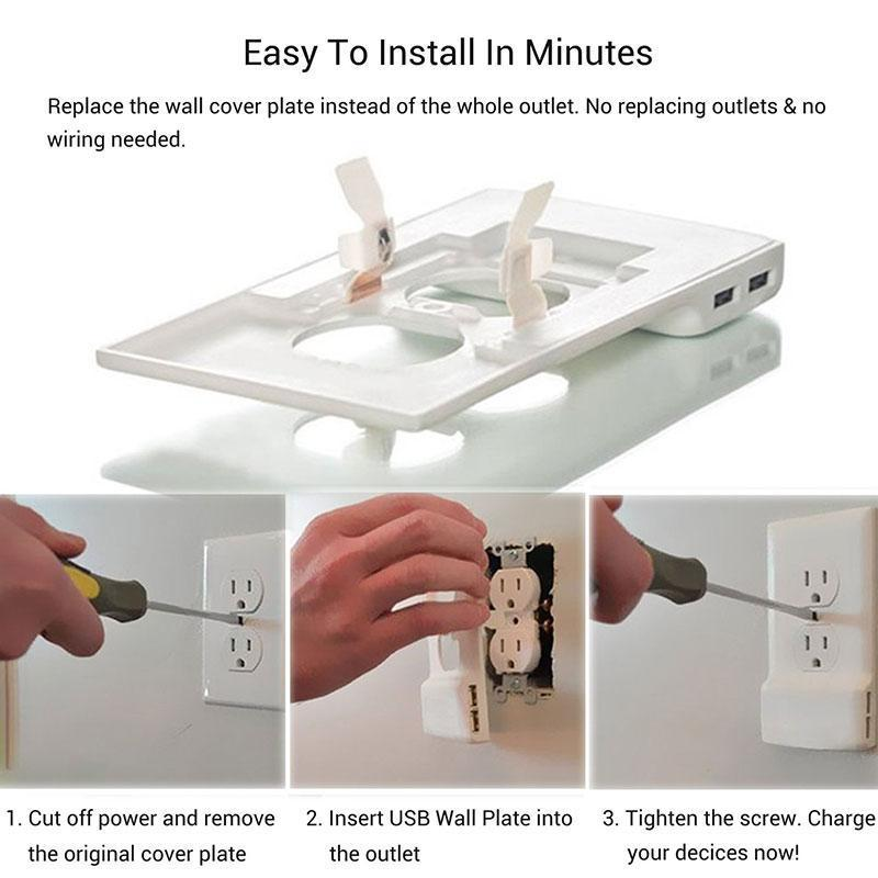 Smart Power Outlet Cover With USB Ports