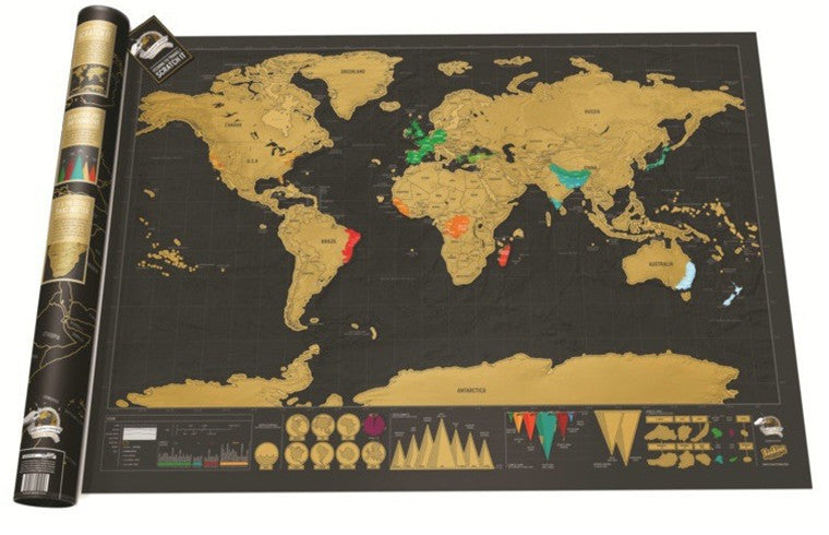 Scratch Off World Map($10 OFF today)