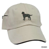 Labrador Retreiver Black Embrodiered Baseball Caps