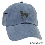 Italian Greyhound Embrodiered Baseball Caps
