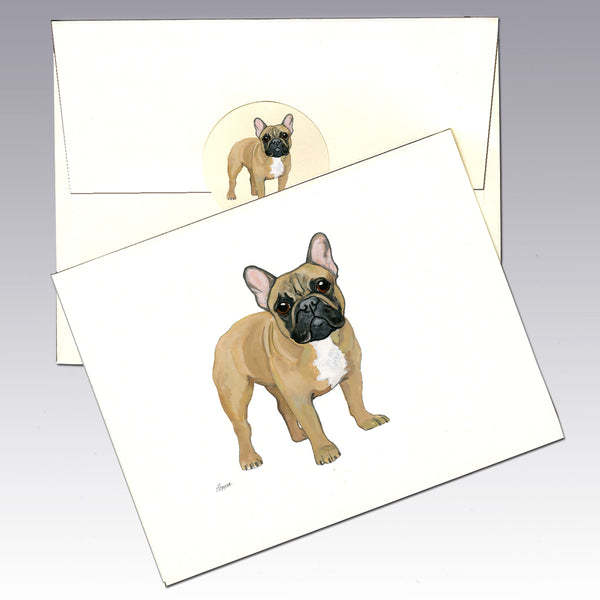 French Bulldog 8 Pack Notecards