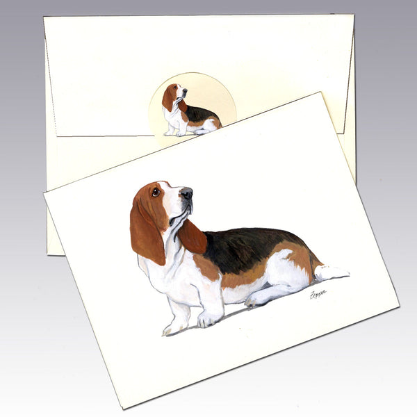 Bassett Hound 8 Pack Notecards