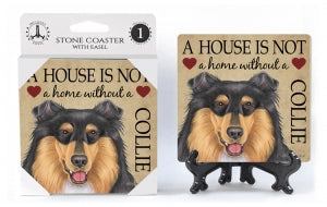 Collie (tri-colored) Absorbent Stone Coaster