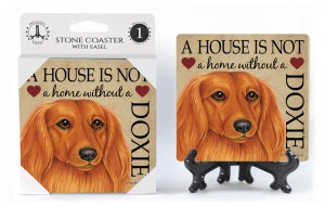 Dachshund (Long hair) Absorbent Stone Coaster
