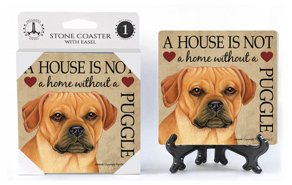 Puggle Absorbent Stone Coaster
