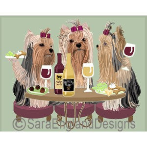 Yorkshire Terrier Show Cut 3 Dogs Prints