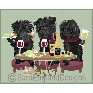 Affenpinscher 3 Dogs Prints