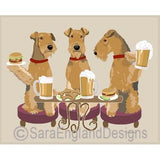 Airedale 3 Dogs Prints