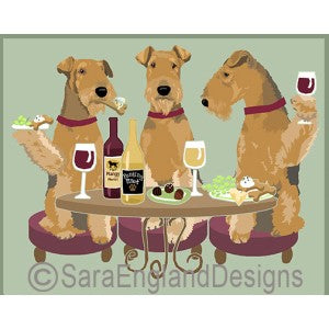 Airedale Terrier 3 Dogs Prints
