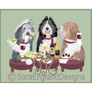 Bearded Collie 3 Dogs Prints