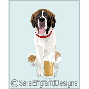 Saint Bernard Best Friends Prints