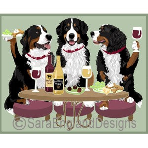 Bernese Mountian Dog 3 Dogs Prints