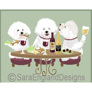 Bichon 3 Dogs Prints