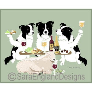Border Collie 3 Dogs Prints