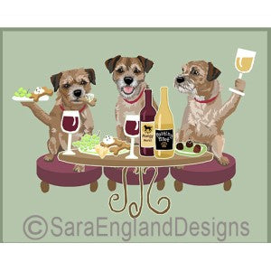 Border Terrier 3 Dogs Prints