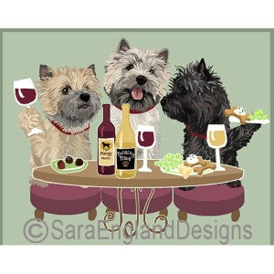 Cairn Terrier 3 Dogs Prints