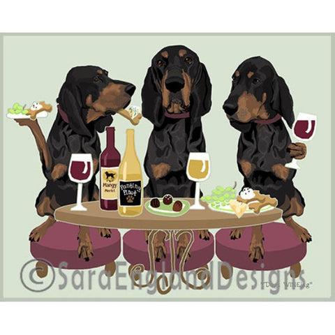 Coonhound 3 Dogs Prints