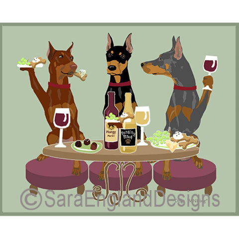 Doberman 3 Dogs Prints