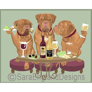Dogue de Bordeux 3 Dogs Prints