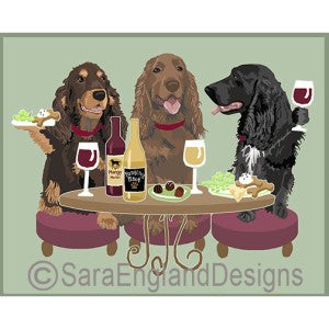 Field Spaniel 3 Dogs Prints