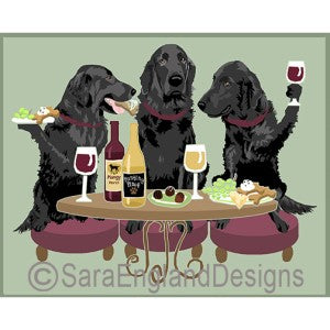 Flat-Coated Retriever 3 Dogs Prints