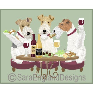 Wire Fox Terrier 3 Dogs Prints