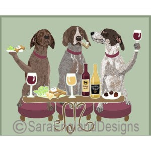 German Shorthaired Pointer 3 Dogs Prints