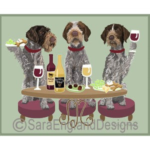 German Wirehaired Pointer 3 Dogs Prints