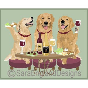 Golden Retriever 3 Dogs Prints