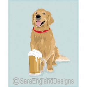 Golden Retriever Best Friends Prints