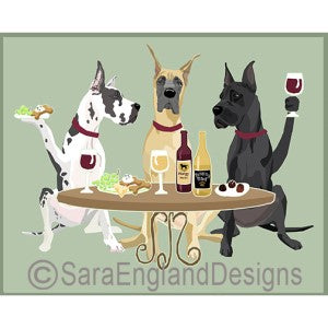 Great Dane Cropped 3 Dogs Prints