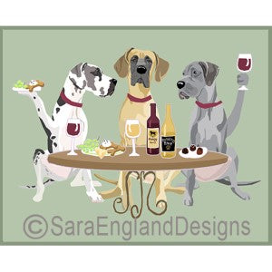 Great Dane Natural 3 Dogs Prints