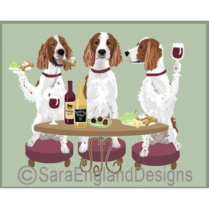 Irish Red and White Setter 3 Dogs Prints