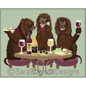 Irish Water Spaniel 3 Dogs Prints