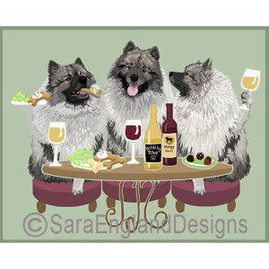 Keeshond 3 Dogs Prints