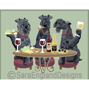 Kerry Blue Terrier 3 Dogs Prints