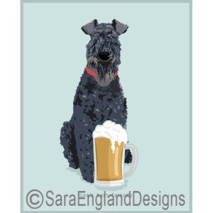 Kerry Blue Terrier Best Friends Prints