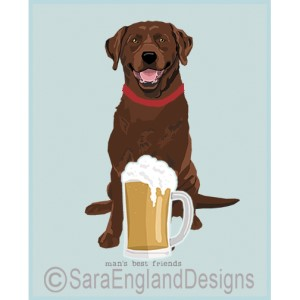 Chocolate Labrador Best Friends Prints