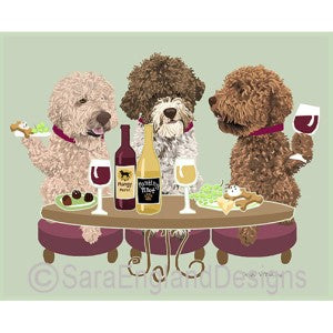 Lagotto Romagnolo 3 Dogs Prints