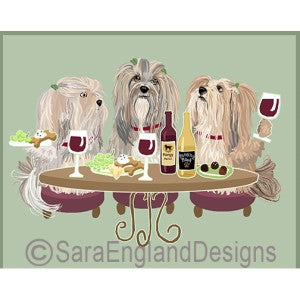 Lhasa Apso 3 Dogs Prints