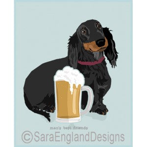 Dachshund Longhaired Best Friends Prints