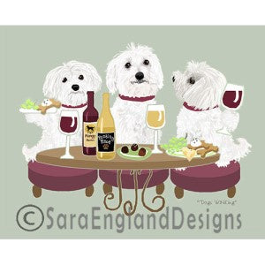 Maltese 3 Dogs Prints