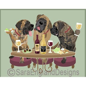 Mastiff 3 Dogs Prints