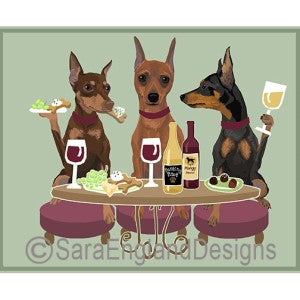 Miniature Pinscher 3 Dogs Prints