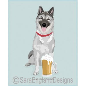 Norwegian Elkhound Best Friends Prints