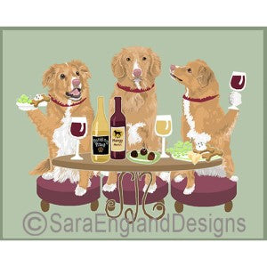 Nova Scotia Duck Toller Retriever 3 Dogs Prints