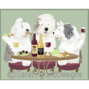 Old English Sheepdog 3 Dogs Prints